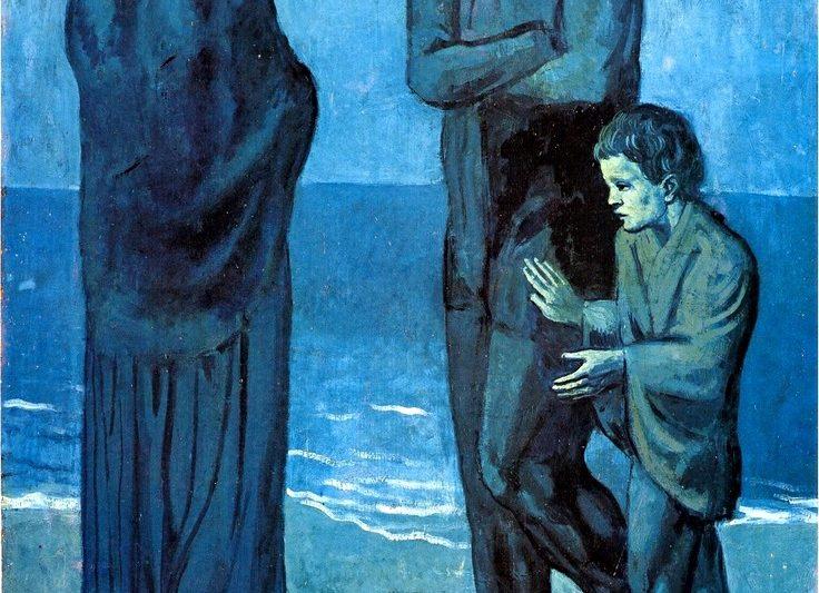 """""""Poveri in Riva al Mare"""" , di Pablo Picasso"""