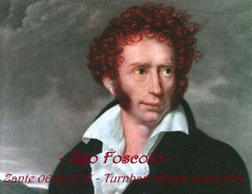 """""""Ugo Foscolo"""", il primo grande intellettuale dell'età neoclassica."""