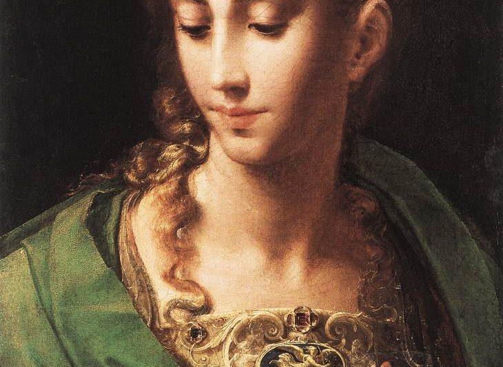 """""""Minerva/Athena o Pallade"""", dipinto olio su tela del Parmigianino…"""