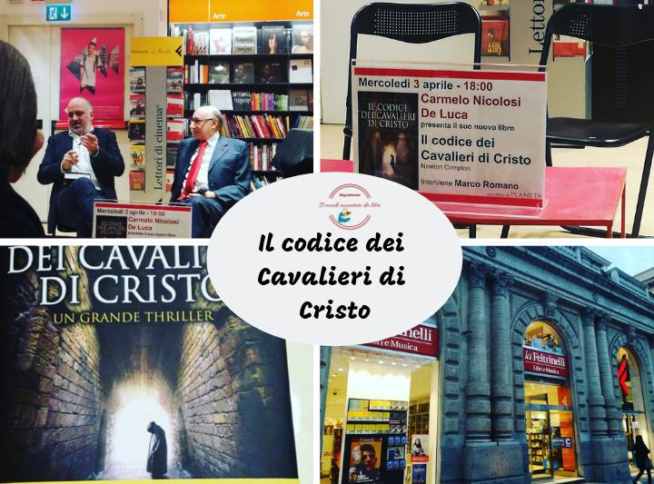 """Resoconto della Presentazione del libro """"Il Codice Dei Cavalieri Di Cristo"""" dello scrittore Carmelo Nicolosi De Luca."""