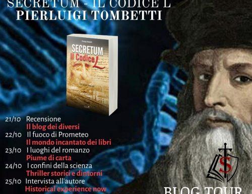 Il fuoco di Promoteo. Blog Tour Secretum – Il codice L di PierLuigi Tombetti.
