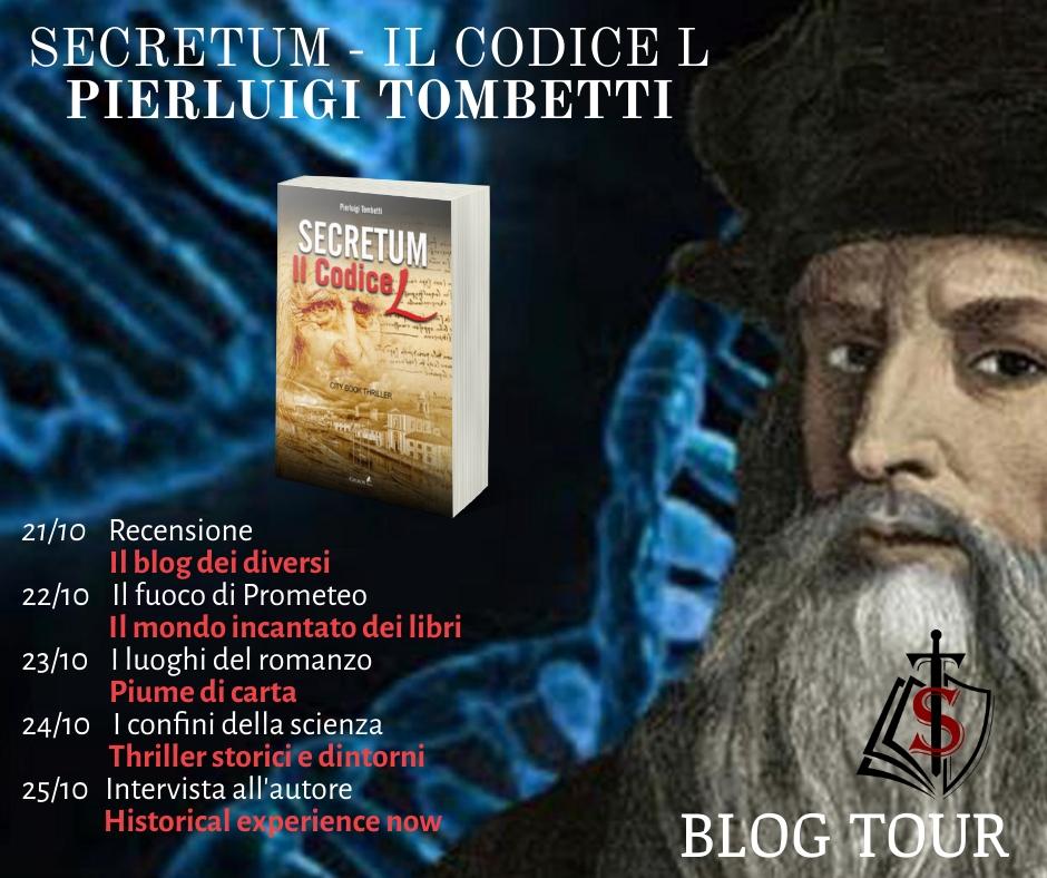 Blog Tour Secretum - Il codice L di PierLuigi Tombetti.