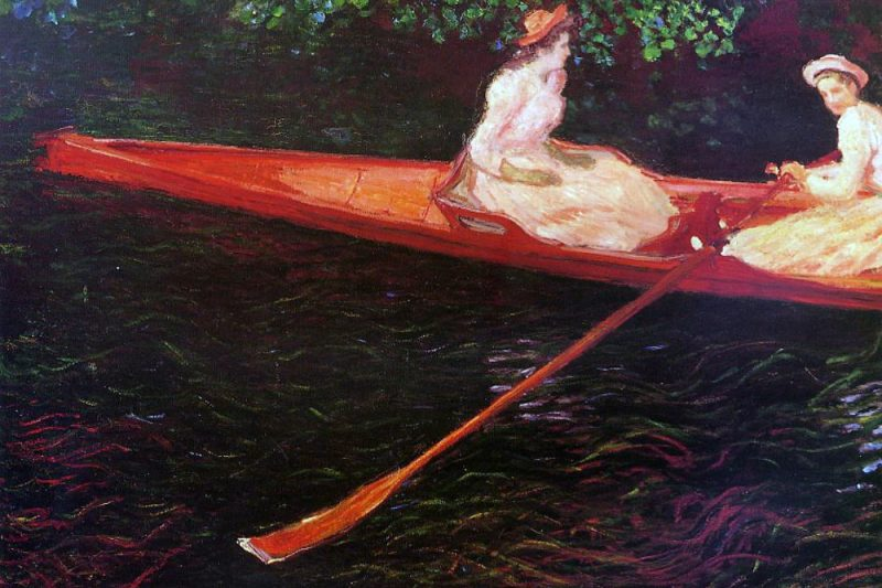 """""""Canottaggio sul fiume Epte"""", di Claude Monet"""