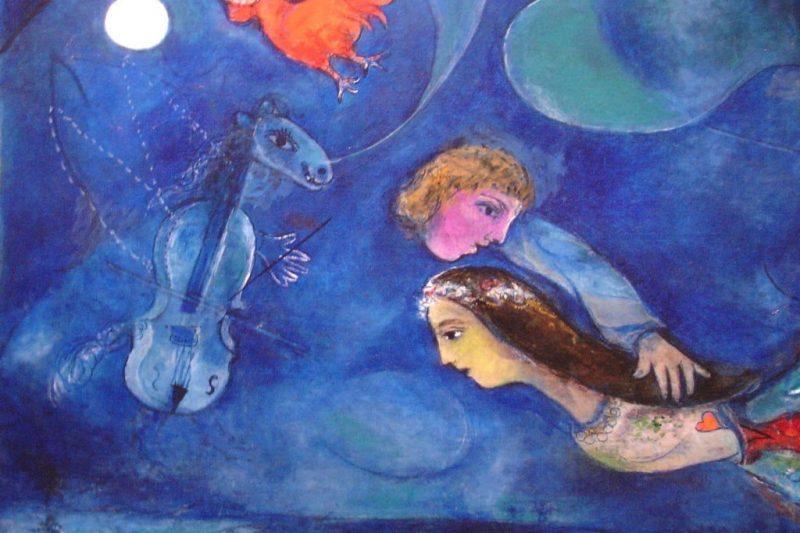 """""""Le Coq Rouge dans la Nuit"""", di Marc Chagall"""