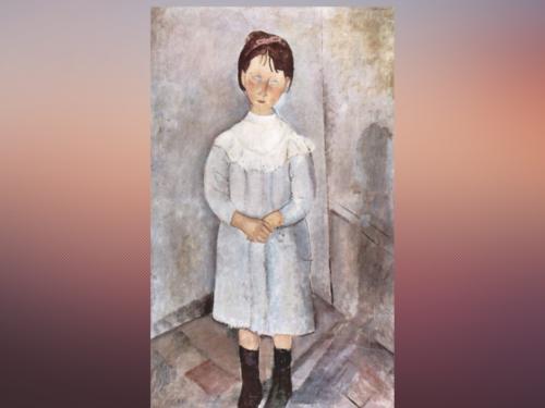 """""""La Bambina in Azzurro"""", di Amedeo Modigliani"""