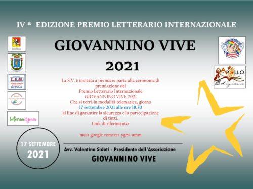 """Premiazione 2020-2021 Premio Letterario """"Giovannino Vive"""""""